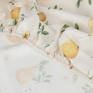 Baby cotton fitted sheet, SUMMER GARDEN