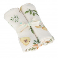 Bamboo Muslin Multipurpose Swaddles - Set of 2 - Summer Garden