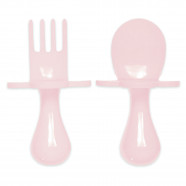 Ergonomic baby learning cutlery