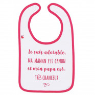 Personalized Baby Bib - I'm adorable, mommy is hot, and daddy very lucky