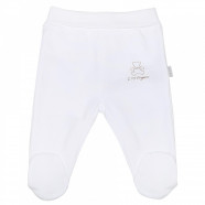 Baby pants with feet in organic cotton, BASIC