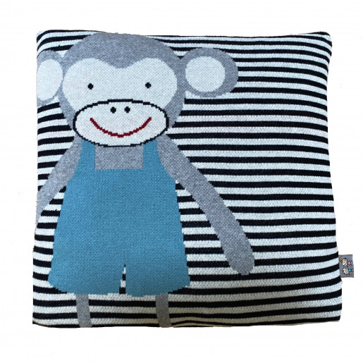 Cushion cover in organic cotton, MONKEY