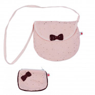 Shoulder bag with coin purse - Powder pink