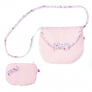 Rose Liberty honeycomb shoulder bag with coin purse