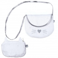 Shoulder bag with coin purse - Cat