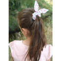 Scrunchie with bow - honeycomb cotton