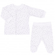 2-piece organic cotton baby pajamas, STARS