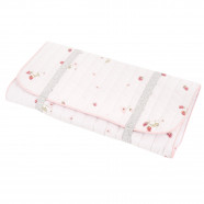 Certified Cotton Travel Changing Mat - Raspberry
