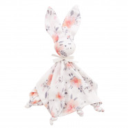 Flat comforter - swaddle - bamboo - Rabbit - Flora Corail