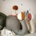 Children's wall trophy - plush decoration - Gray elephant