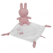 Doudou plat lapin - Miffy Rose velours