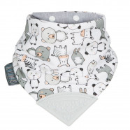 Bandana bib with teething tip, Animals