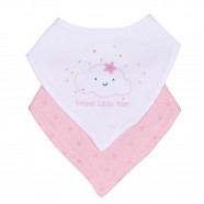 Bandana bib in organic cotton - set of 2 pieces - Sweet