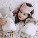 Wall trophy - child plush - White rabbit with hat