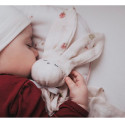 Flat comforter - swaddle - bamboo - Rabbit - Raspberry