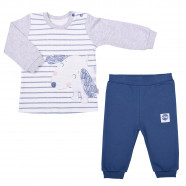 Baby clothes set - 2-piece organic cotton pajamas - Dog