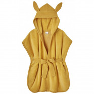 Bamboo and gauze muslin hooded baby and child bathrobe