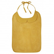 Large baby bib in bamboo and cotton gauze with claudine