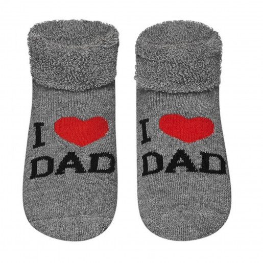 Baby socks in terrycloth cotton - I love Dad