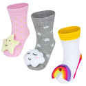 Pack of 3 pairs of non-slip early learning socks - size 19 - 21 - Céleste Girl