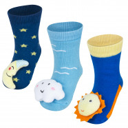 Pack of 3 pairs of non-slip activity socks - Céleste Boy