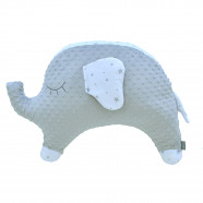 Nursing pillow - extra soft minky baby pillow - Elephant Stella