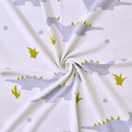 Lightweight, certified organic cotton blanket - Dino