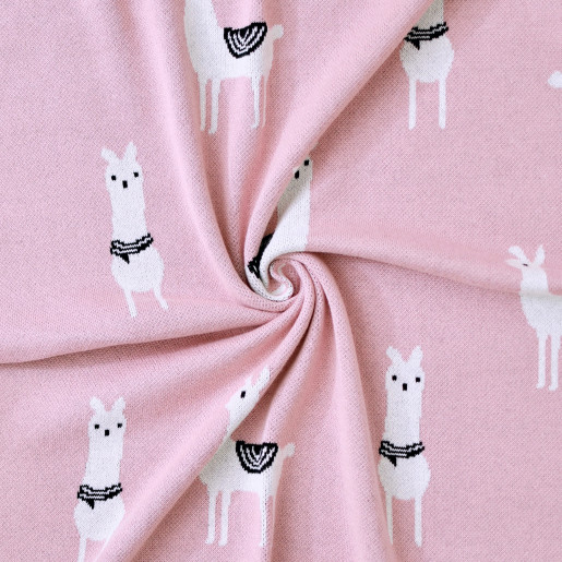 Lightweight organic cotton baby blanket - Lama