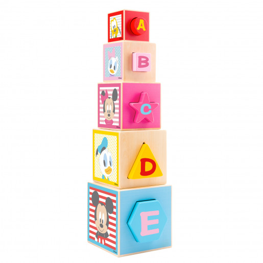 Wooden toy: Penguin stacking pyramid