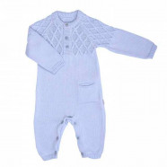Baby jumpsuit in organic cotton knit