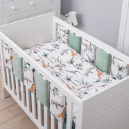 Flexible Cot Bumper, BLUSH LIBERTY