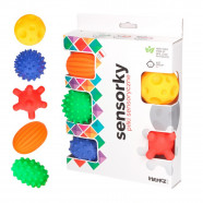 Box of 5 sensory balls - massage - Early learning toy for baby