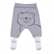 Baby pants with feet in organic cotton, STARS