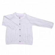 Organic cotton knit baby cardigan