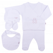 100% organic cotton newborn set - Organic 5-piece baby clothes