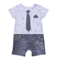 Baby boy's romper playsuit in organic cotton - Gaspard