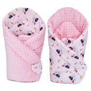 Reversible minky swaddle sleeping bag, STELLA