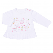 Baby girls' long-sleeved t-shirt - Little Garden
