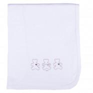 Lightweight baby blanket in Gots certified organic cotton jersey