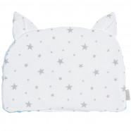 Reversible flat cushion pillow with cat ears, STELLA