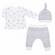 Baby Organic Cotton 3 Piece Clothing Set - Sweet Bird
