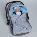Reversible and multi-use wraparound cover for car seat Étoiles