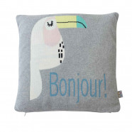 Organic cotton cushion cover - Toucan