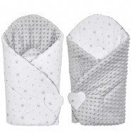 Swaddling Sleeping Bag - Baby Nest Minky Reversible - Stella
