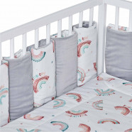 Modular and reversible bed bumper, RAINBOW