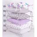Cushion cover for modular bed bumper