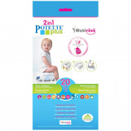 Pack of 20 Disposable Refills for Potette Plus Travel Jar
