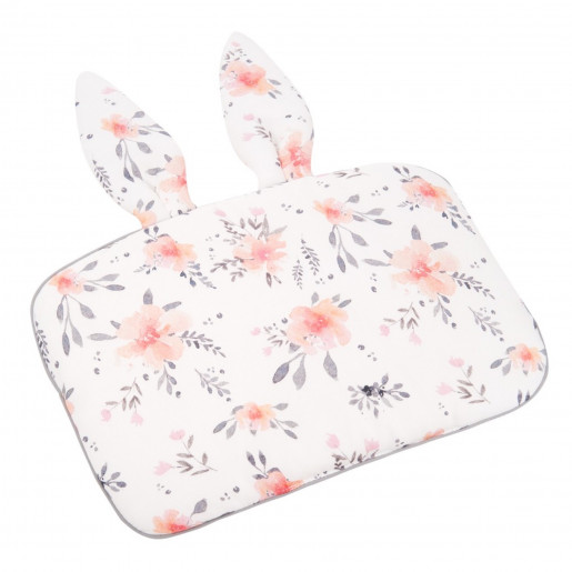 Baby pillow - Rabbit shaped children's cushion with ears - Flora