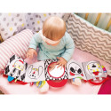 Awakening book - discovery game for Baby in minky with mirror