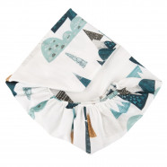 Drap housse bébé en coton certifié - Collection Premium - Everest